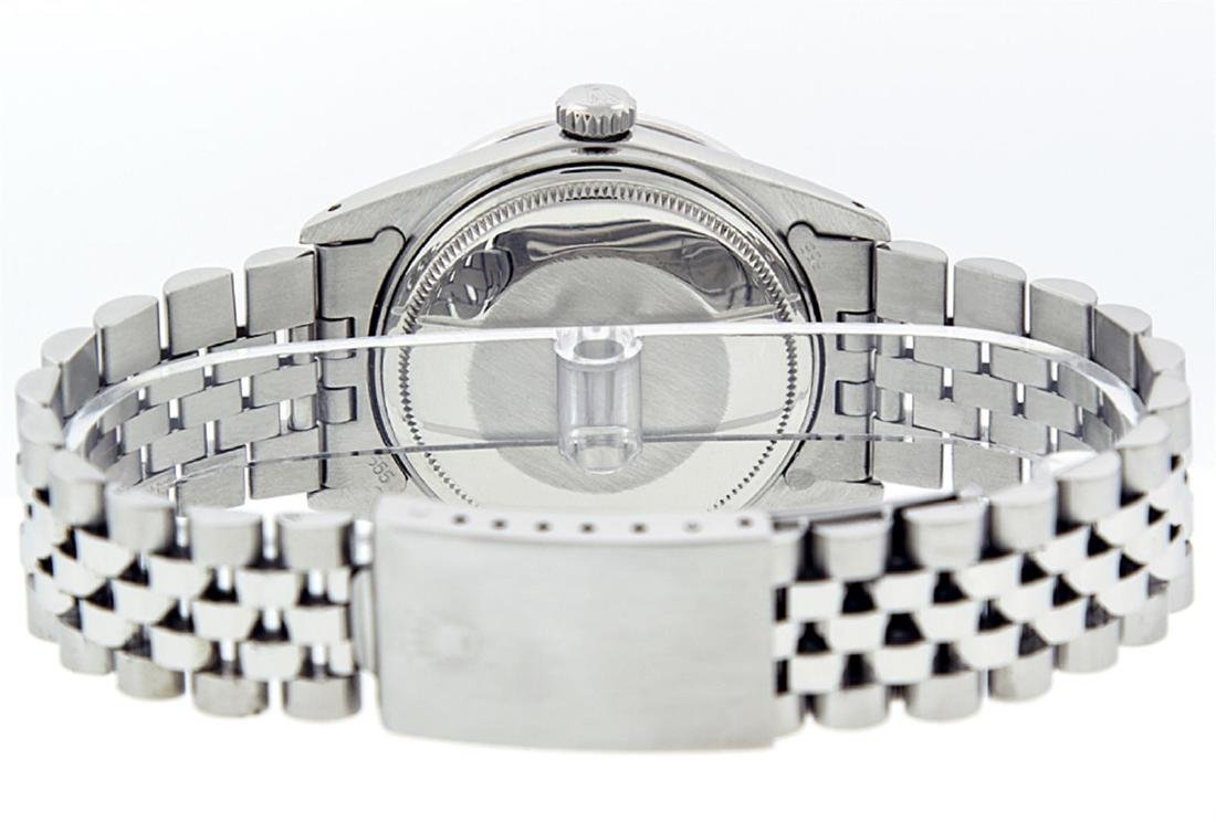 Rolex Men's Stainless Steel Mother Of Pearl Diamond & - 6