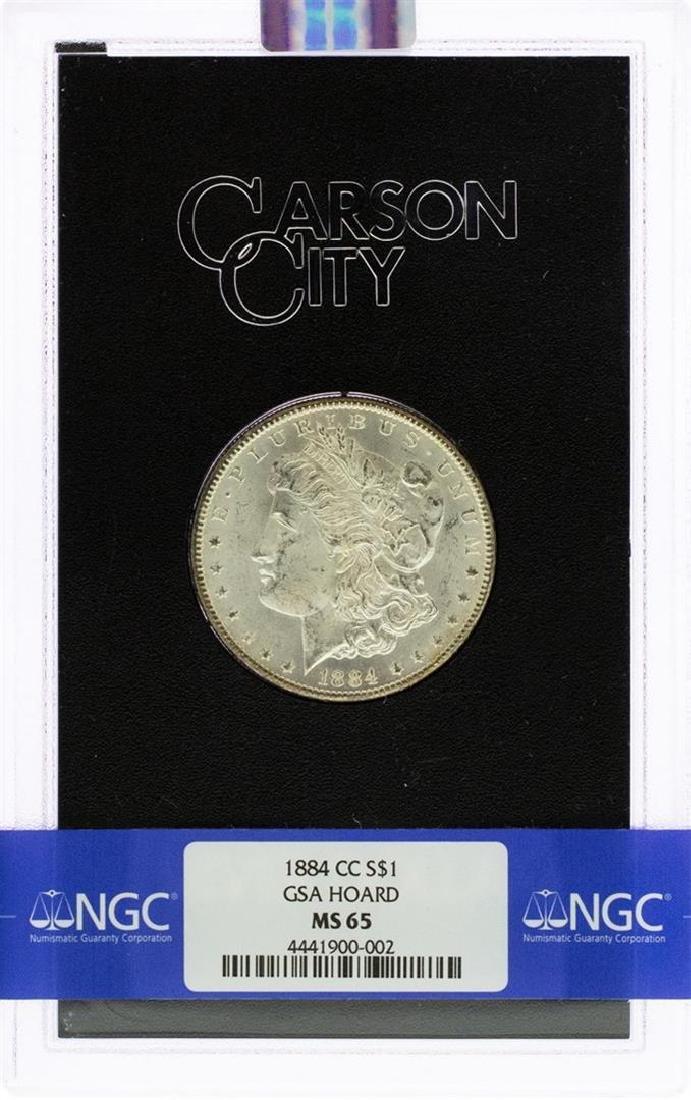 1884-CC $1 Morgan Silver Dollar Coin GSA NGC MS65 - 2