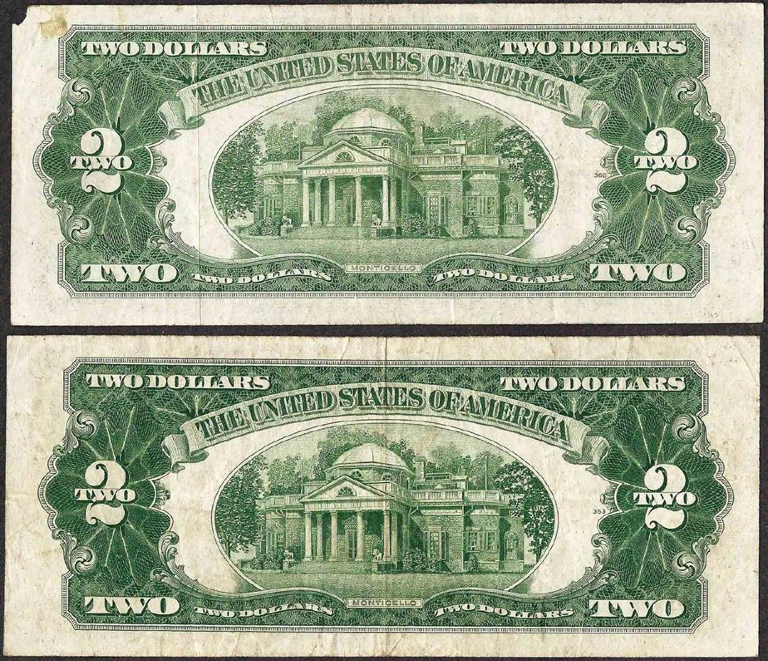 Lot of (2) 1928G $2 Legal Tender Notes - 2