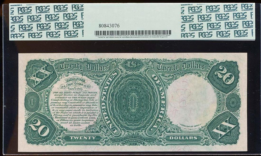 FINEST KNOWN 1880 $20 Legal Tender Note Fr.140 PCGS - 2