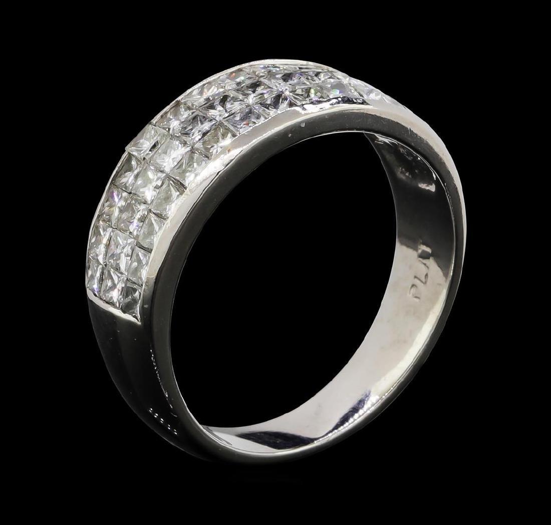 Platinum 1.00 ctw Diamond Ring - 4