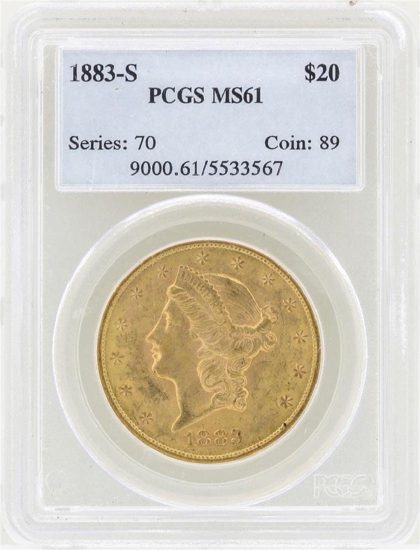 1883-S $20 Liberty Head Double Eagle Gold Coin PCGS