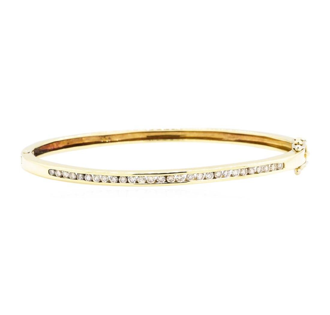 14KT Yellow Gold 0.85 ctw Diamond Bangle Bracelet