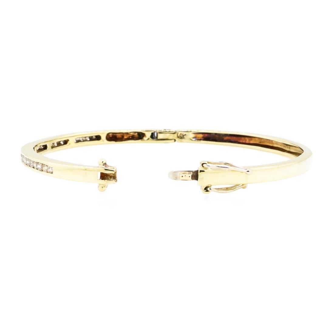 14KT Yellow Gold 0.85 ctw Diamond Bangle Bracelet - 3