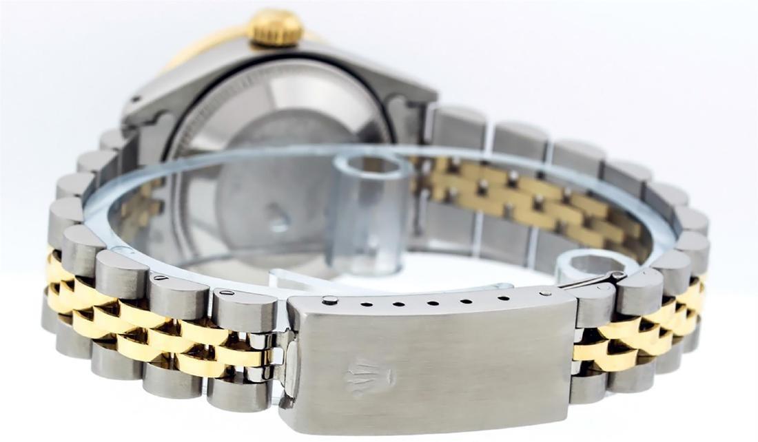 Rolex Ladies Two Tone 14K Gray & Pyramid Diamond - 8