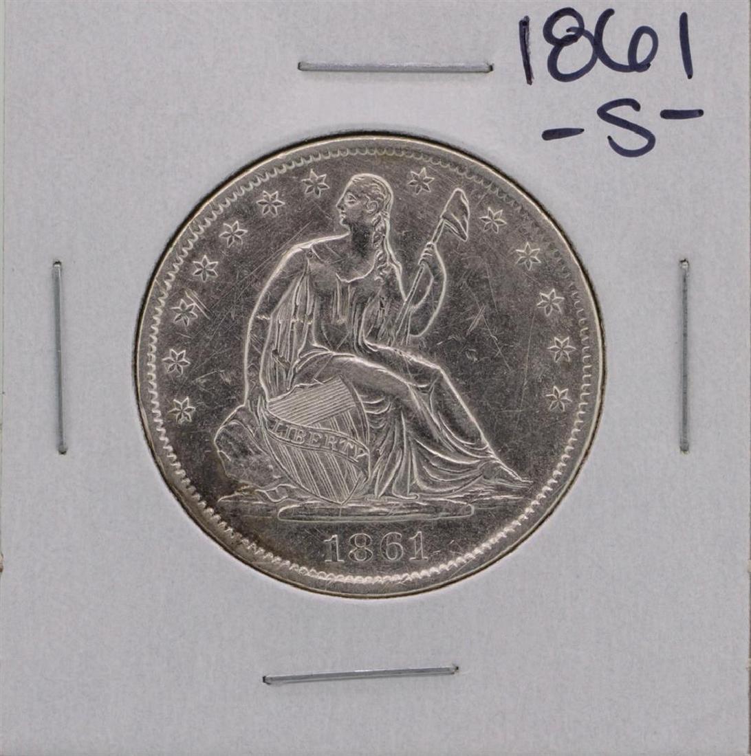 1861-S Seated Liberty Half Dollar Coin