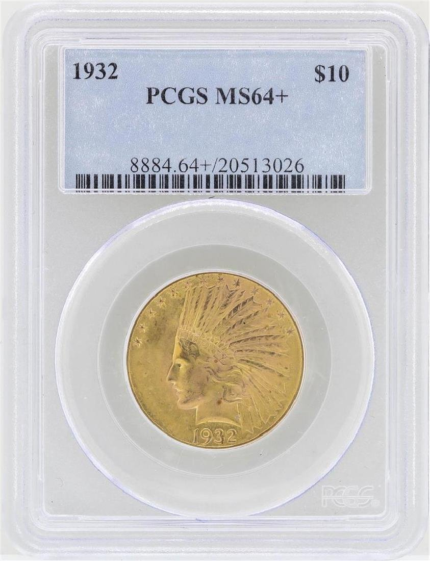 1932 $10 Indian Head Eagle Gold Coin PCGS MS64+