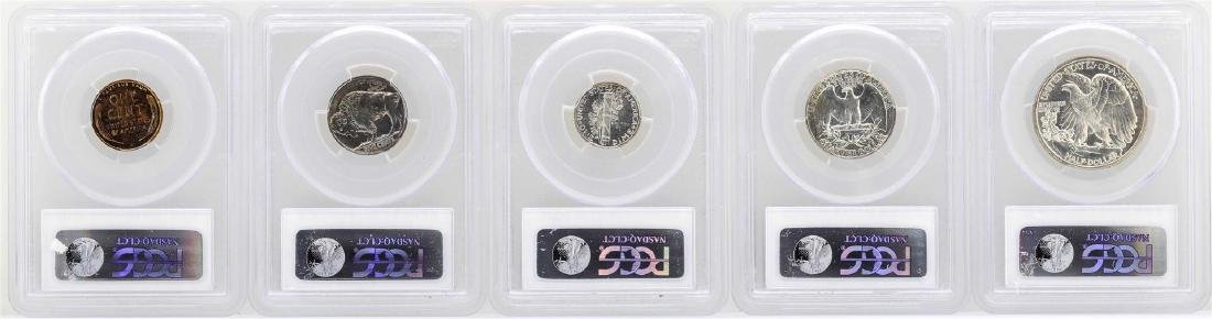 1937 (5) Coin Proof Set PCGS Graded PR63/64/65 - 2