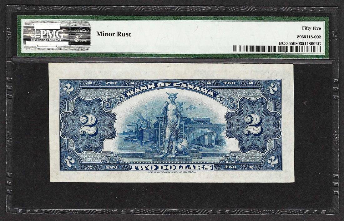 1935 $2 Bank of Canada Note English BC-3 PMG About - 2