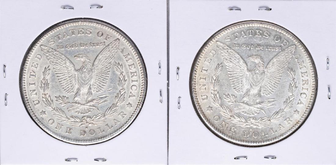 Lot of (2) 1878-S $1 Morgan Silver Dollar Coins - 2