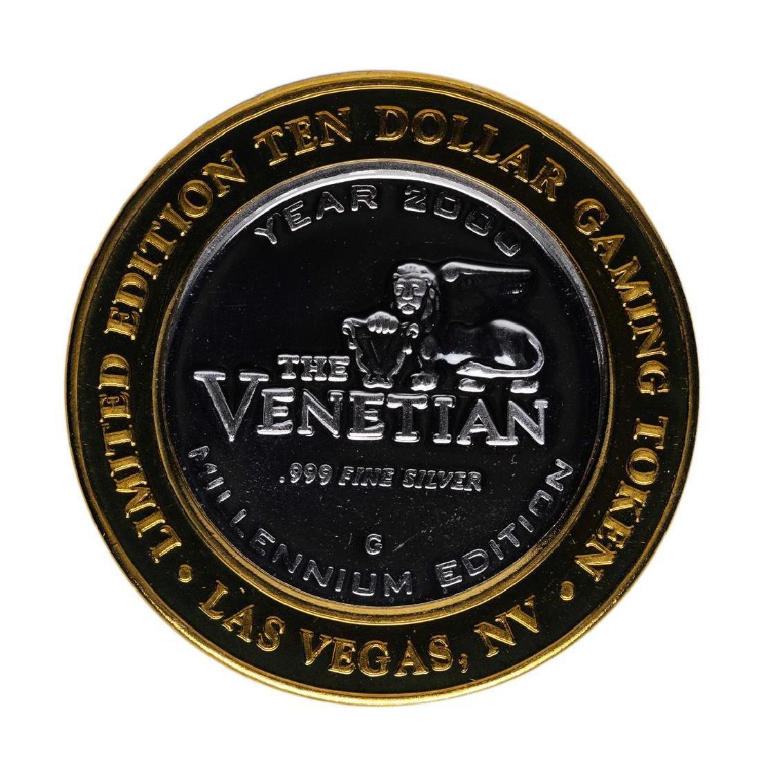 .999 Silver The Venetian Las Vegas, Nevada $10 Casino