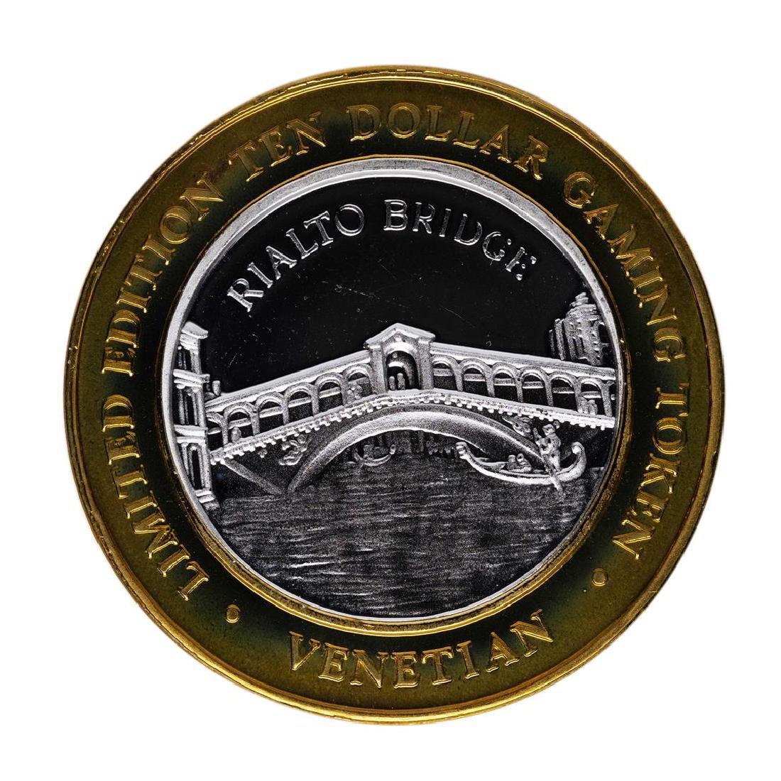 .999 Silver The Venetian Las Vegas, Nevada $10 Casino - 2