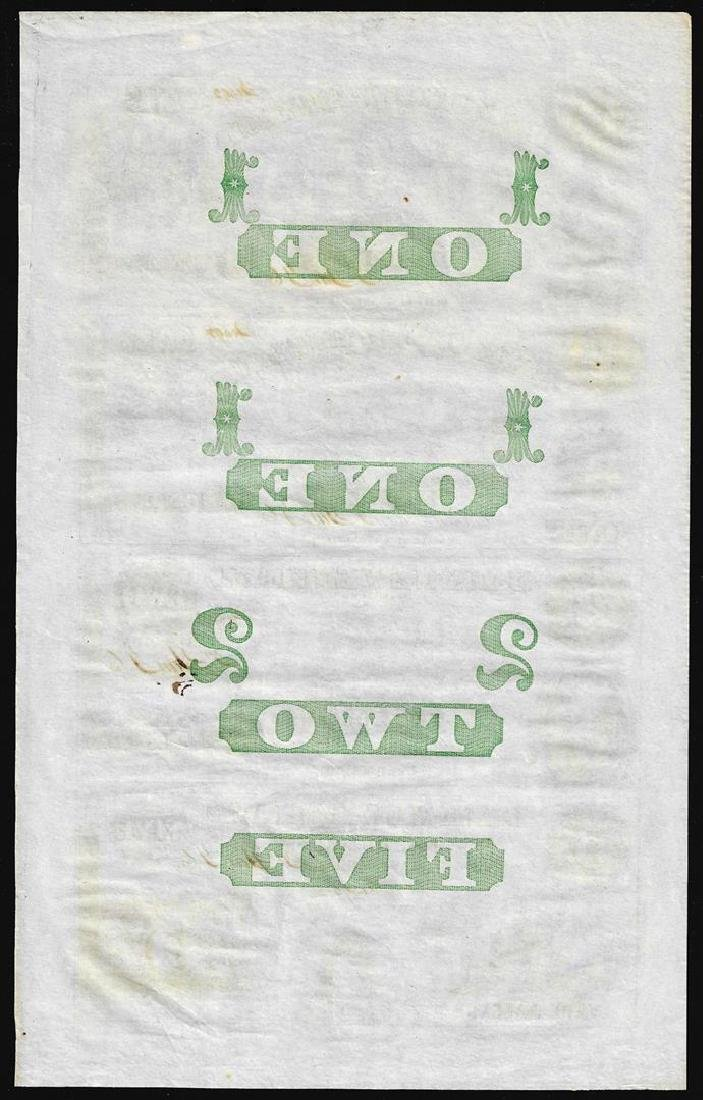 Uncut Sheet of Bank of New-England Obsolete Notes - 2