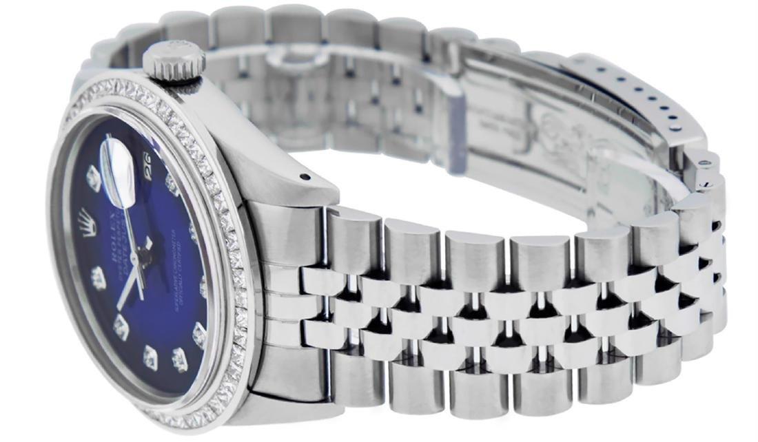 Rolex Men's Stainless Steel Blue Vignette Princess Cut - 5