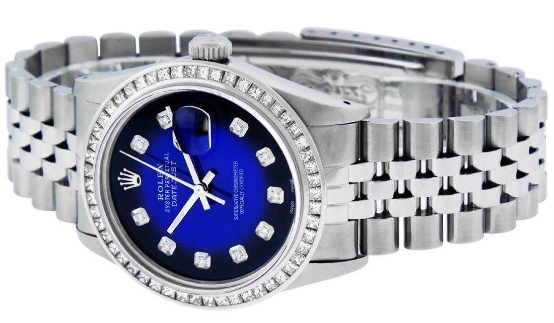 Rolex Men's Stainless Steel Blue Vignette Princess Cut - 6