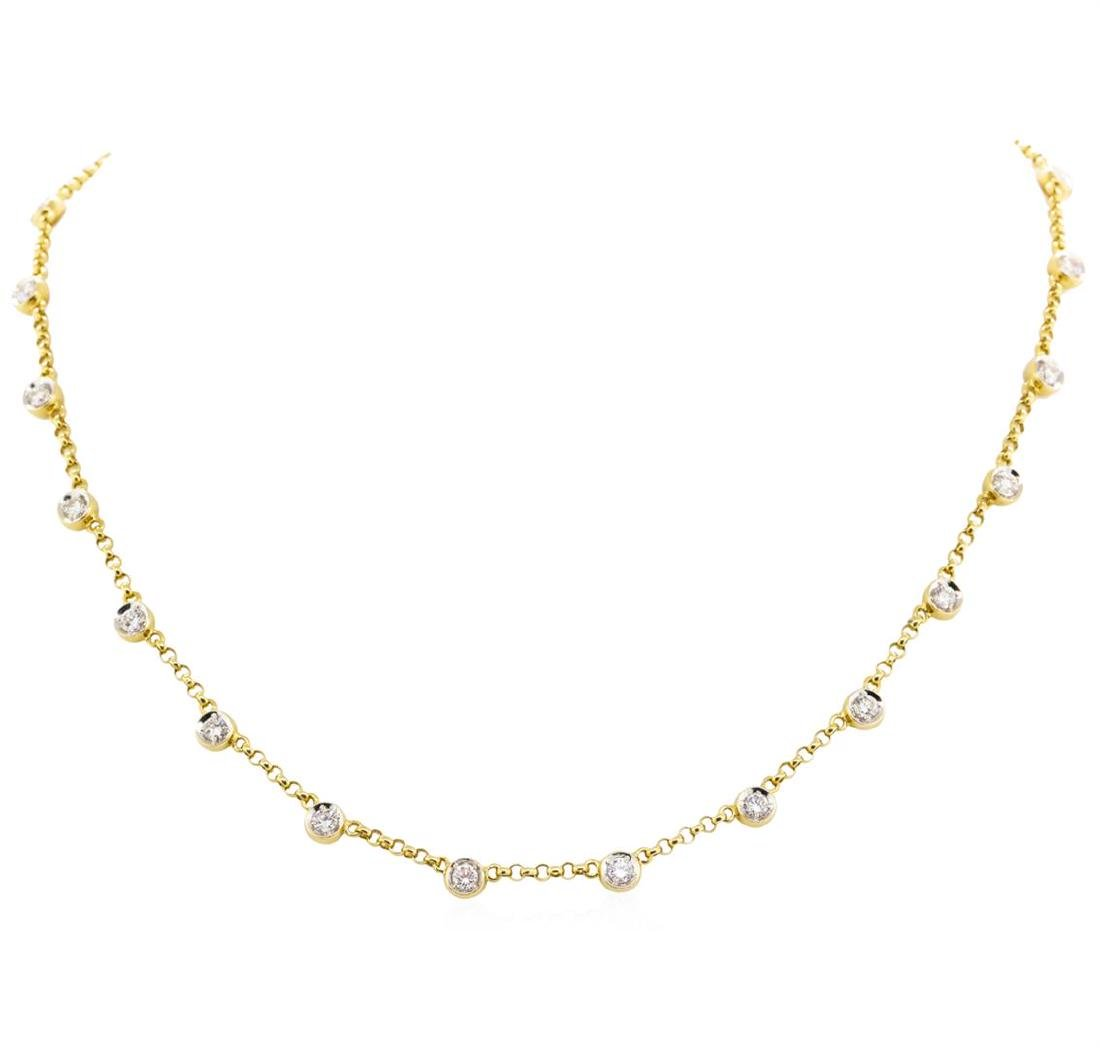 18KT Yellow Gold 2.72 ctw Diamonds by the Yard Necklace