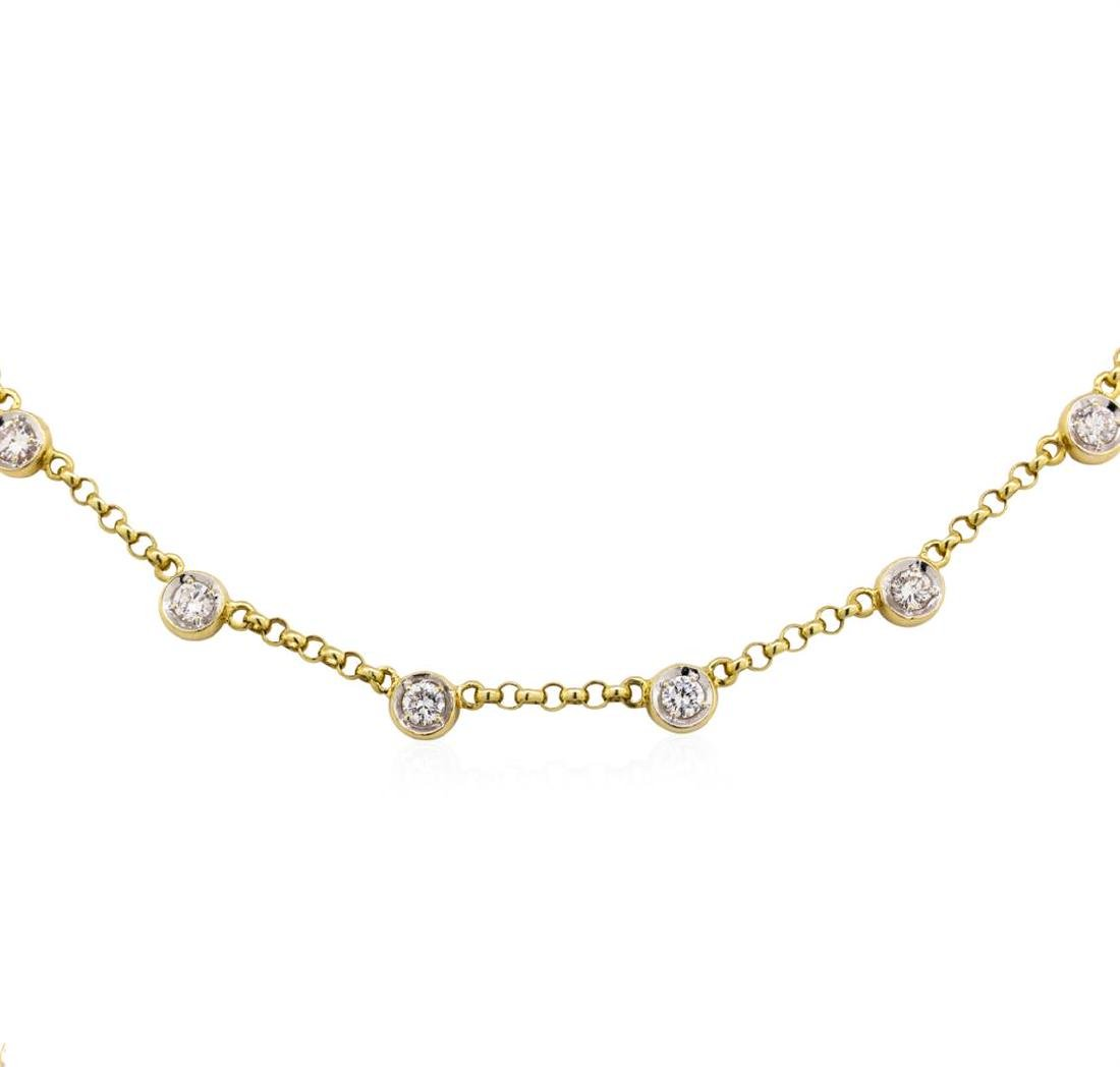18KT Yellow Gold 2.72 ctw Diamonds by the Yard Necklace - 2