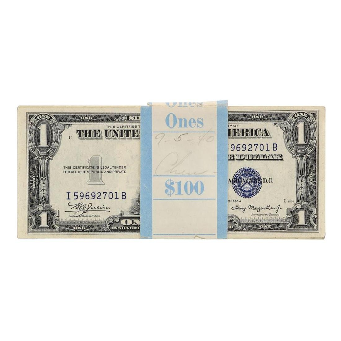 Pack of (100) Consecutive 1935A $1 Silver Certificate