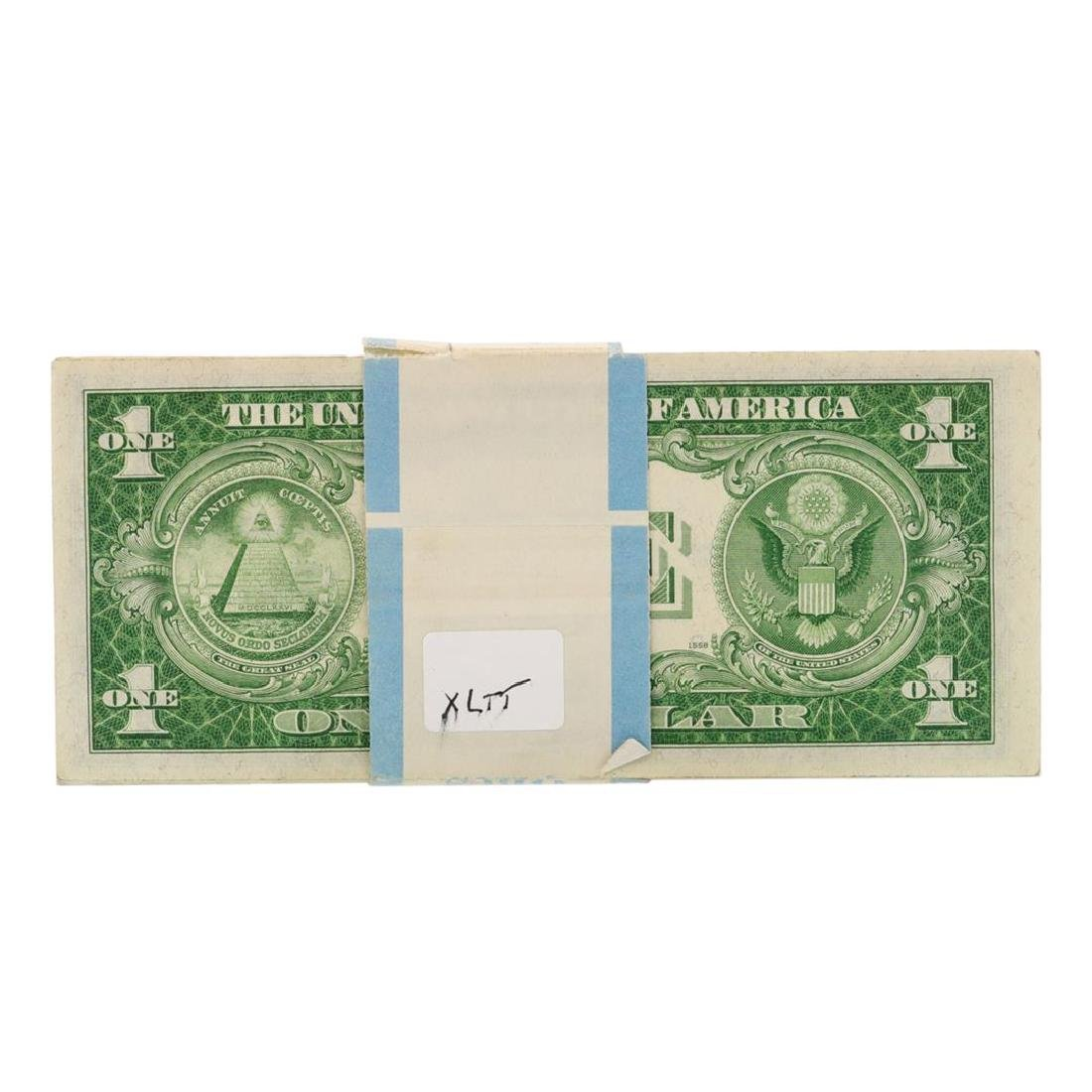 Pack of (100) Consecutive 1935A $1 Silver Certificate - 2