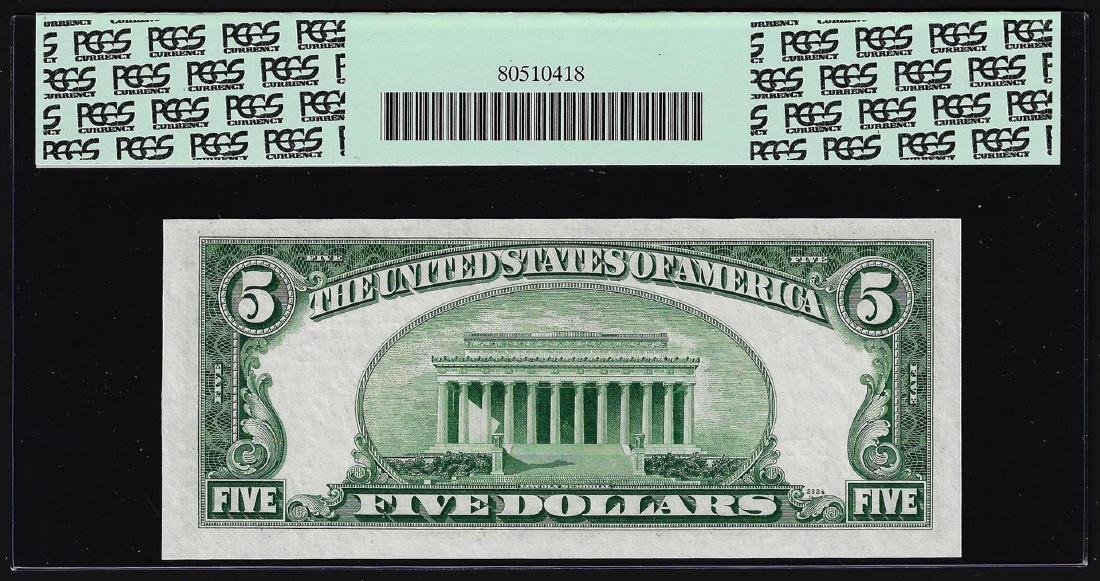 1950A $5 Federal Reserve Note Mismatched Serial Number - 2