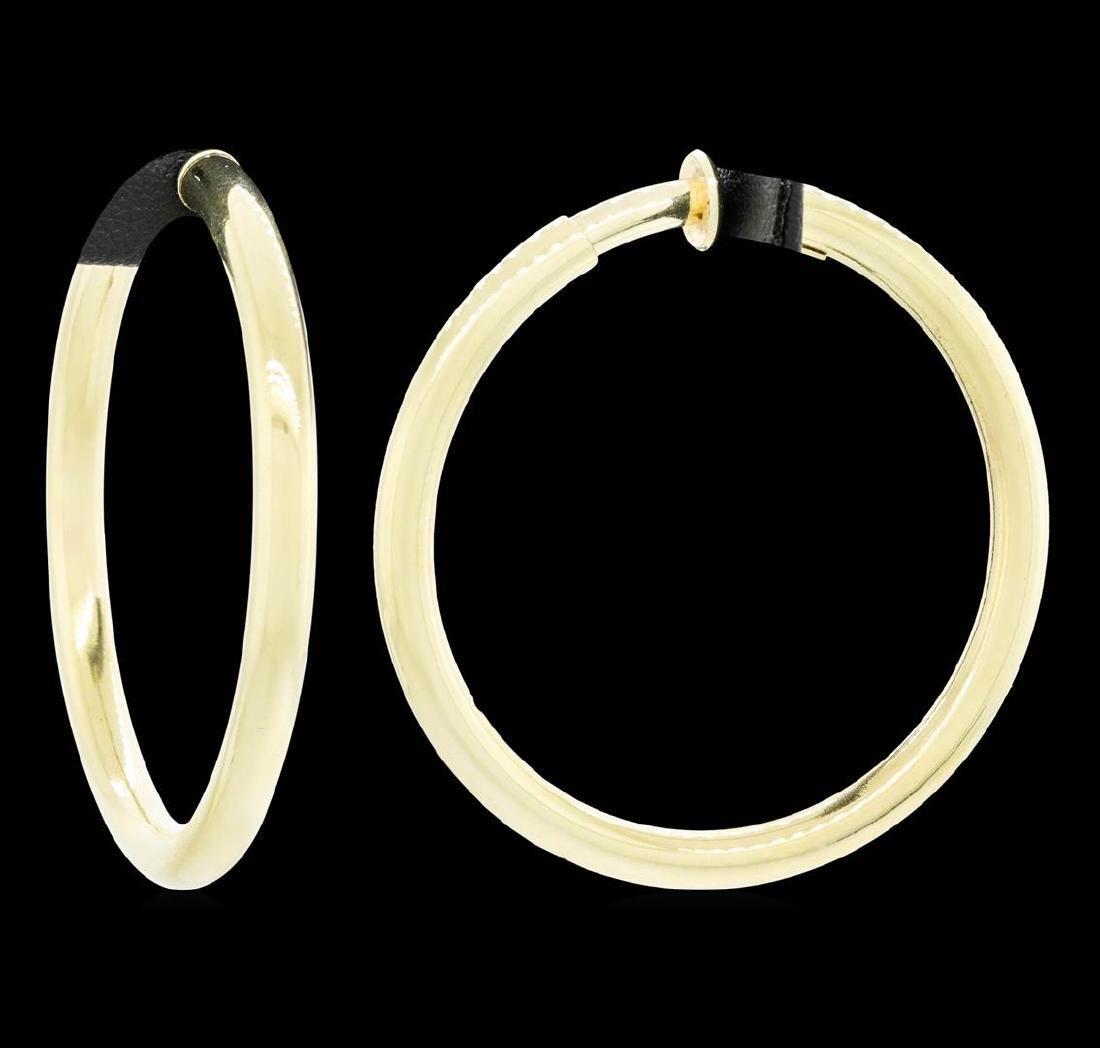 14KT Yellow Gold Hoop Earrings - 2