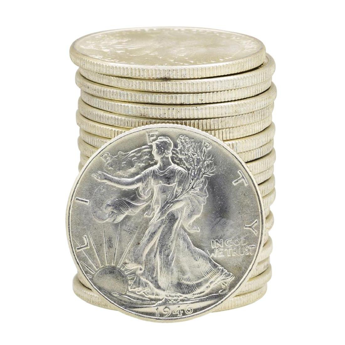 Roll of (20) 1946 Brilliant Uncirculated Walking