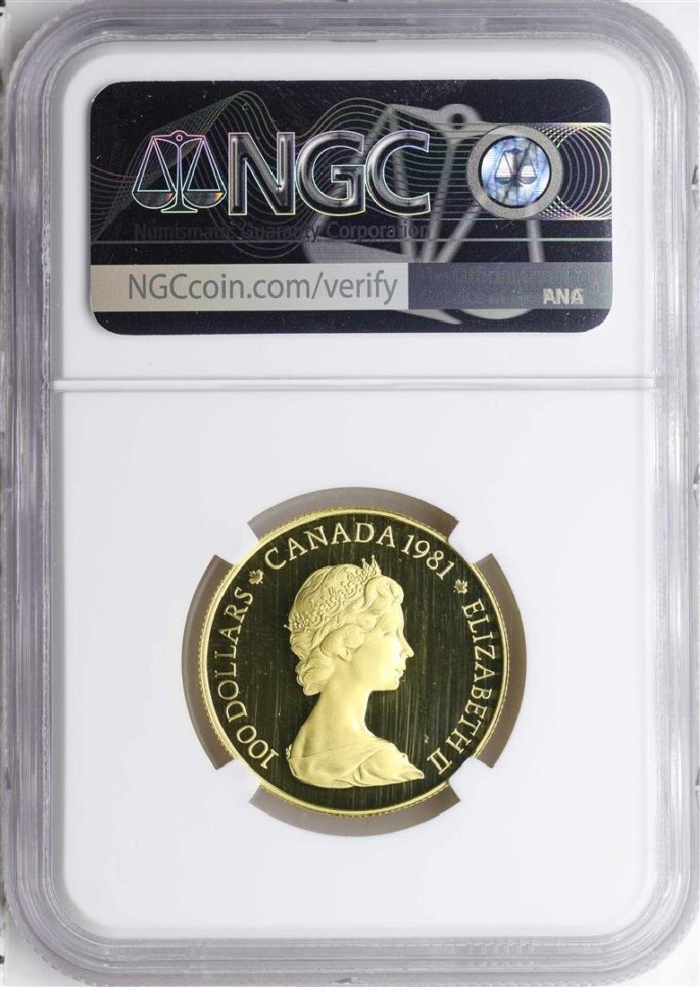 1981 Canada $100 National Anthem Gold Coin NGC PF69 - 2