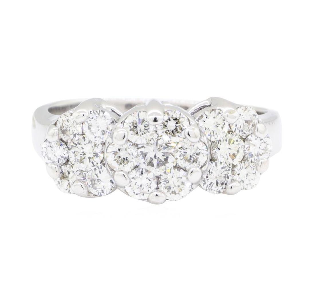 14KT White Gold 1.10 ctw Diamond Ring - 2