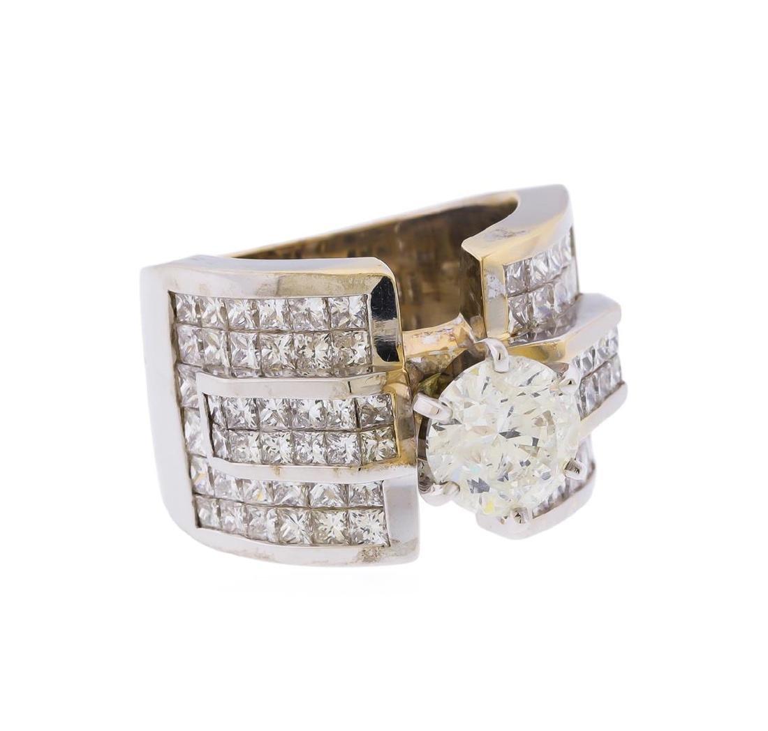 18KT White Gold 5.63 ctw Diamond Engagement Ring - 2