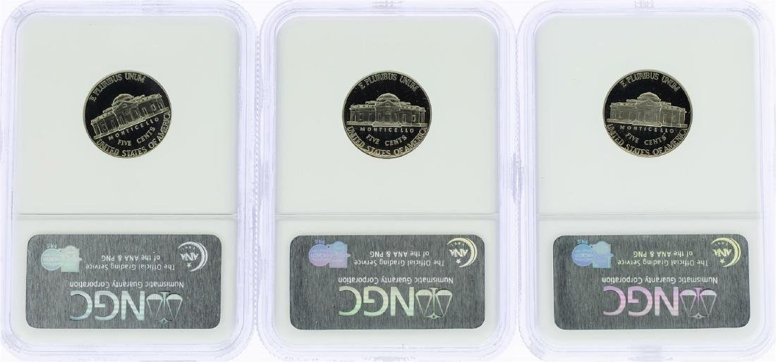 Lot of (3) 2000-S Jefferson Nickel Coins NGC PF69 Ultra - 2