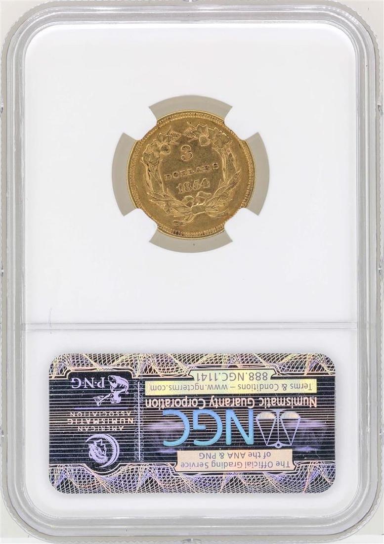 1854 $3 Indian Princess Head Gold Coin NGC AU55 - 2