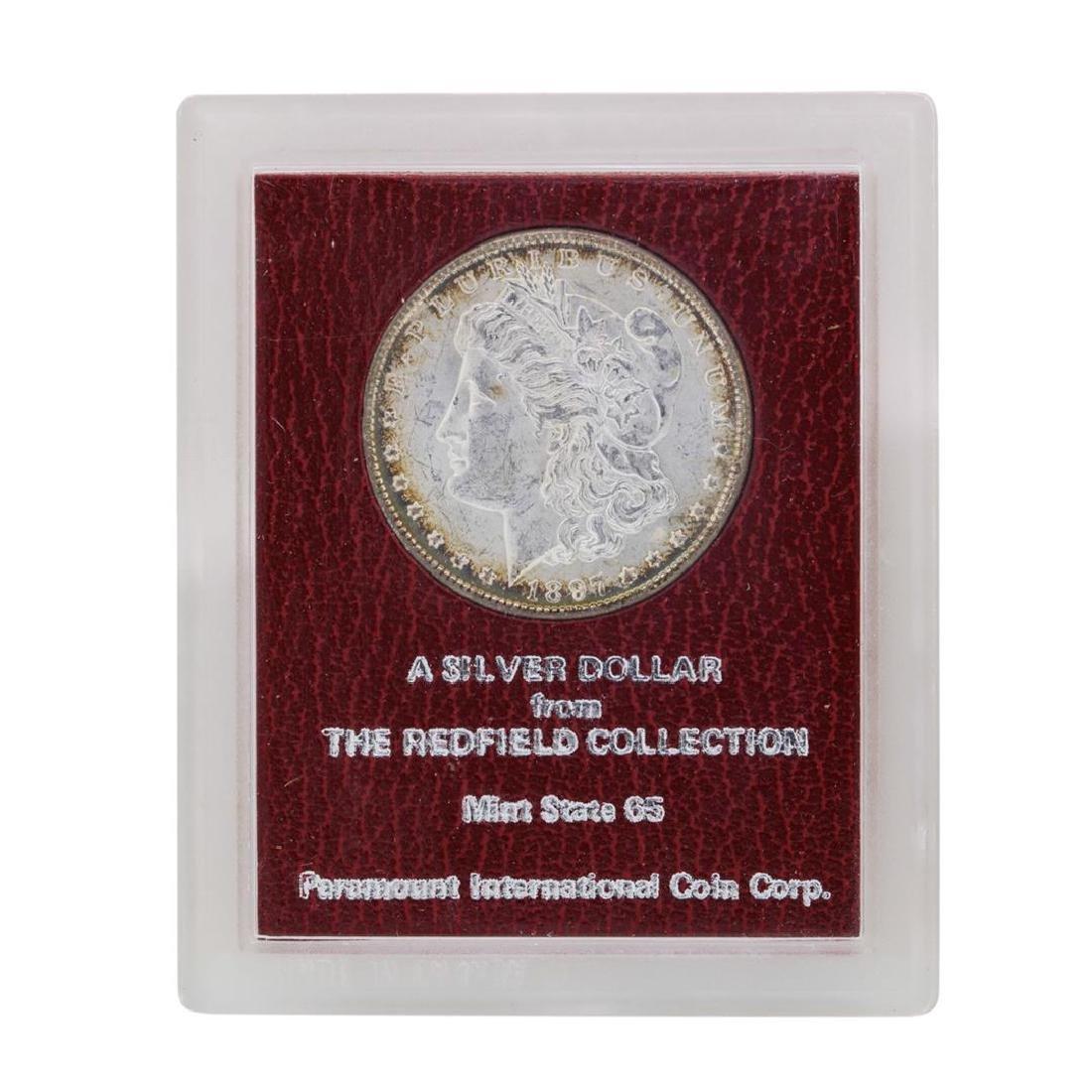 1897 $1 Morgan Silver Dollar Coin Redfield Collection