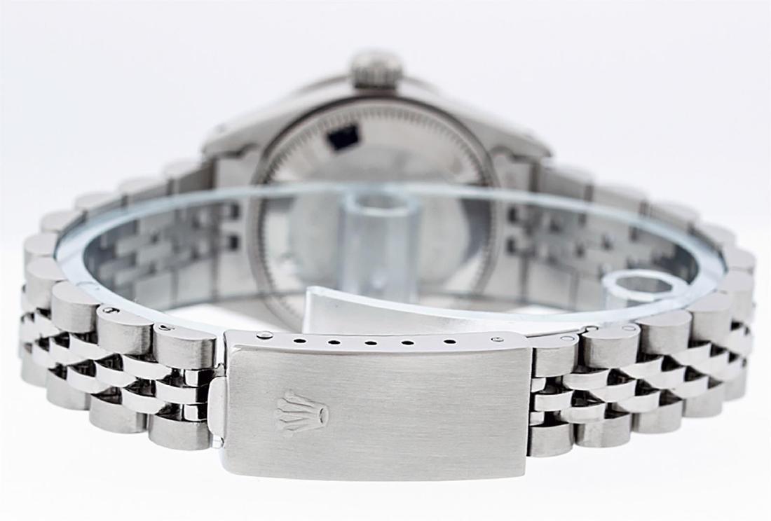 Rolex Ladies Stainless Steel Red Vignette Diamond & - 7