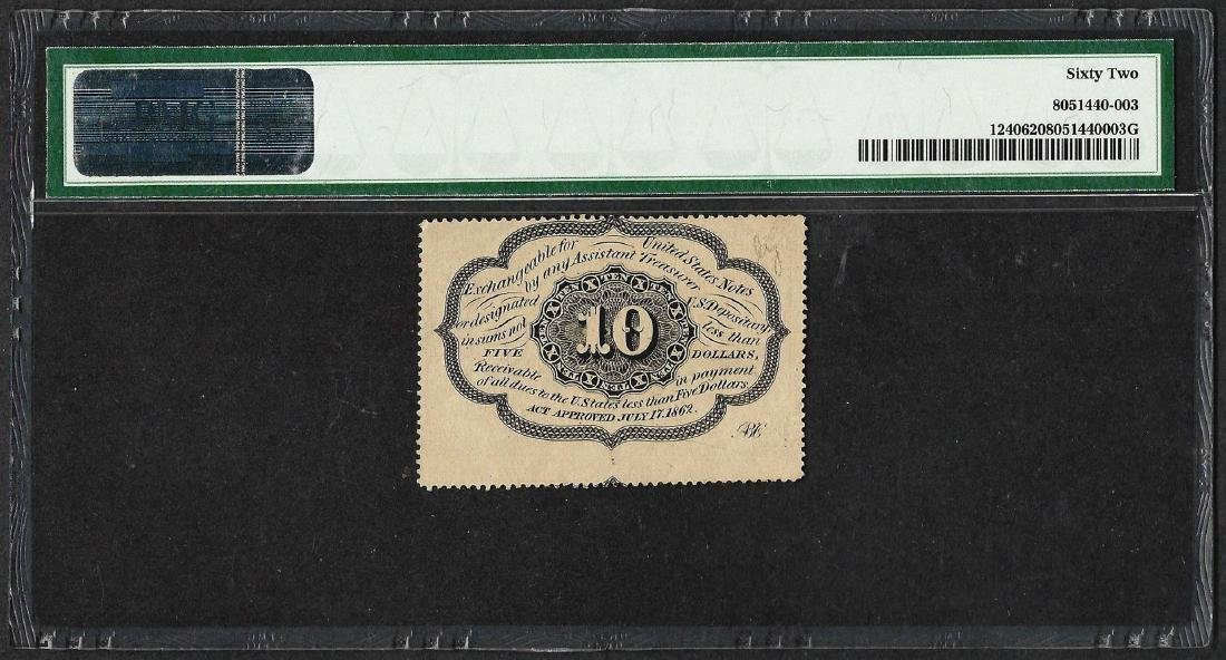 1862 Ten Cents First Issue Fractional Note Fr.1240 PMG - 2