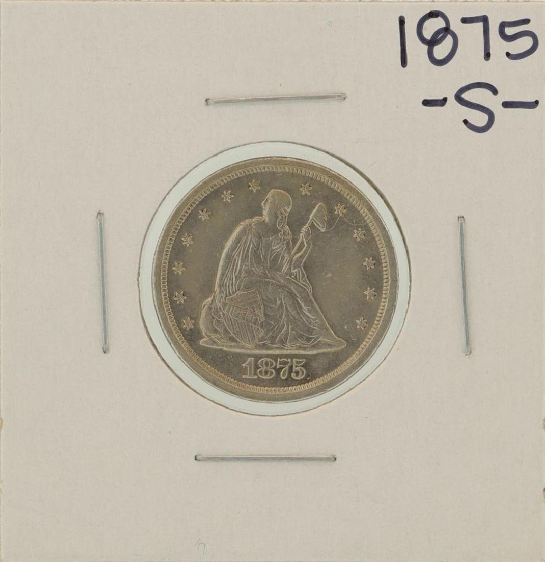 1875-S Twenty Cent Piece Coin