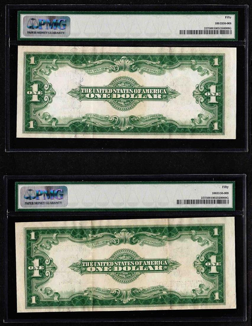 Lot of (2) Consecutive 1923 $1 Silver Certificate Notes - 2