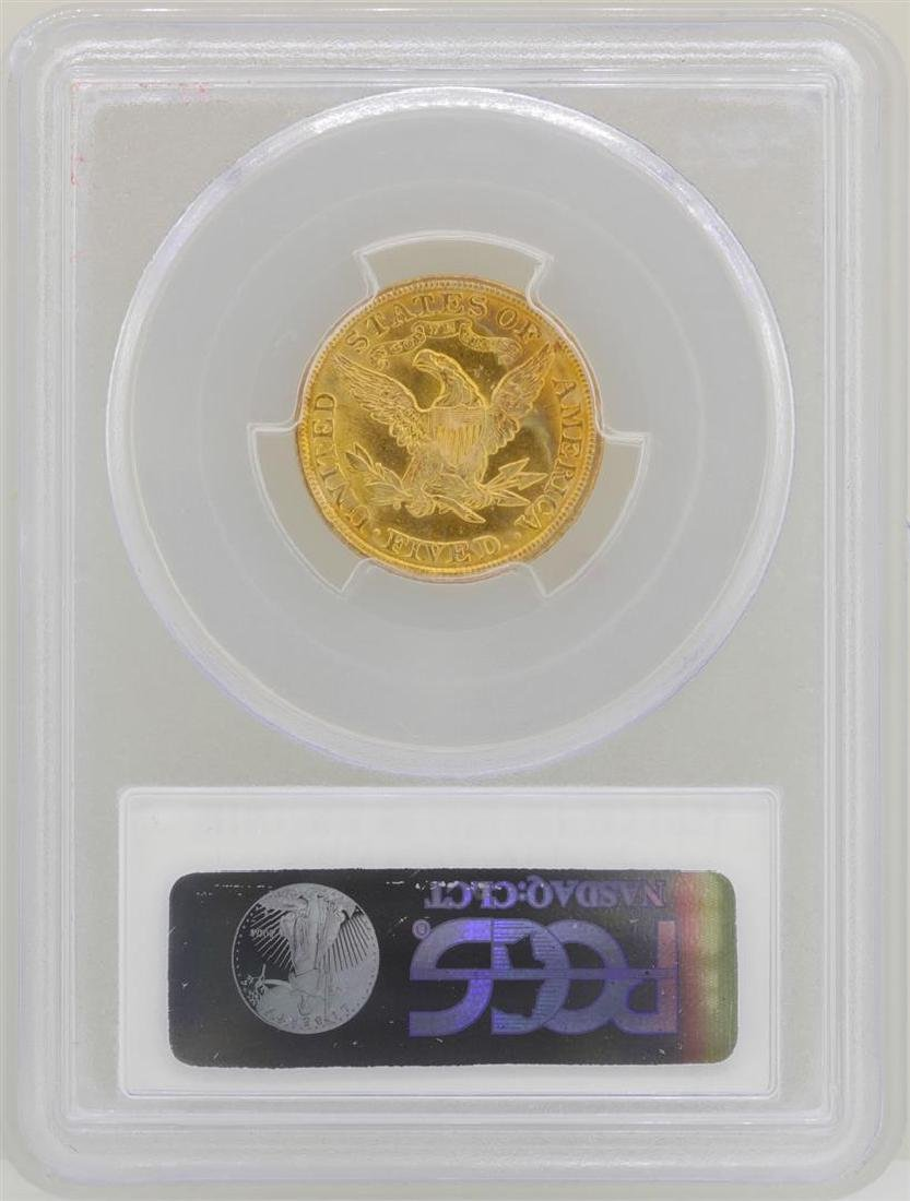 1902 $5 Liberty Head Half Eagle Gold Coin PCGS MS62 - 2