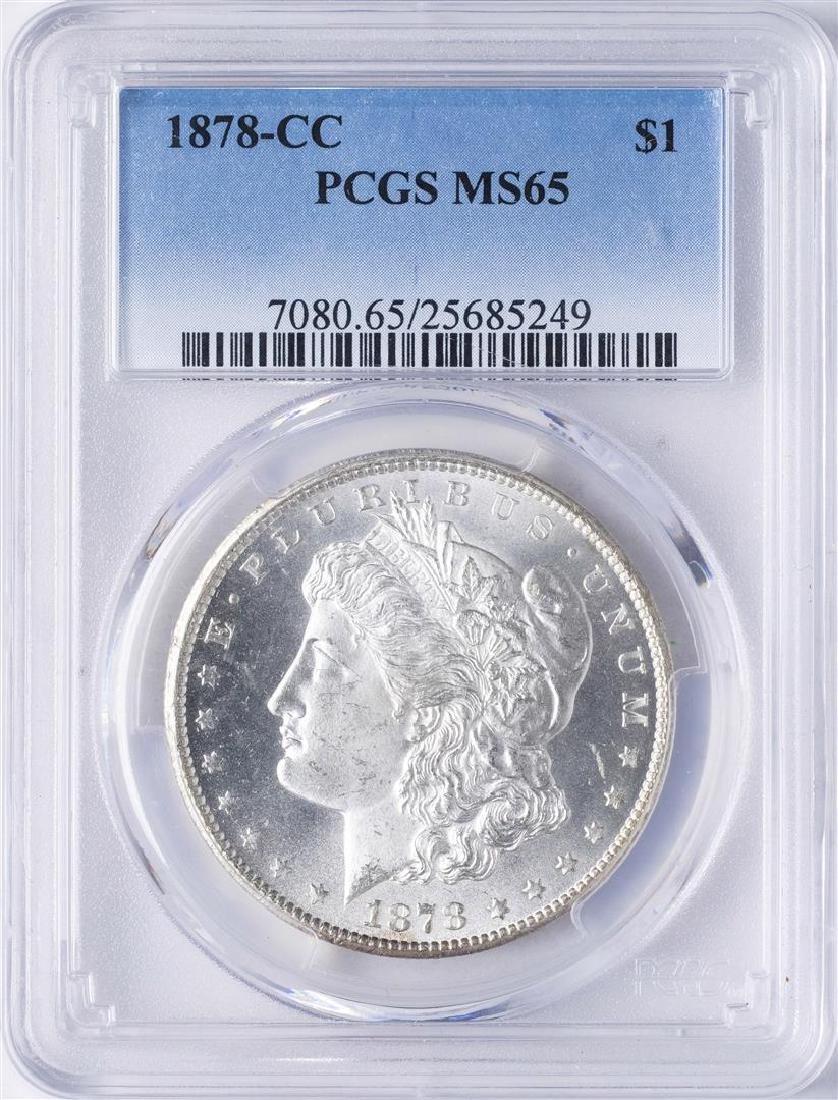 1878-CC $1 Morgan Silver Dollar Coin PCGS MS65