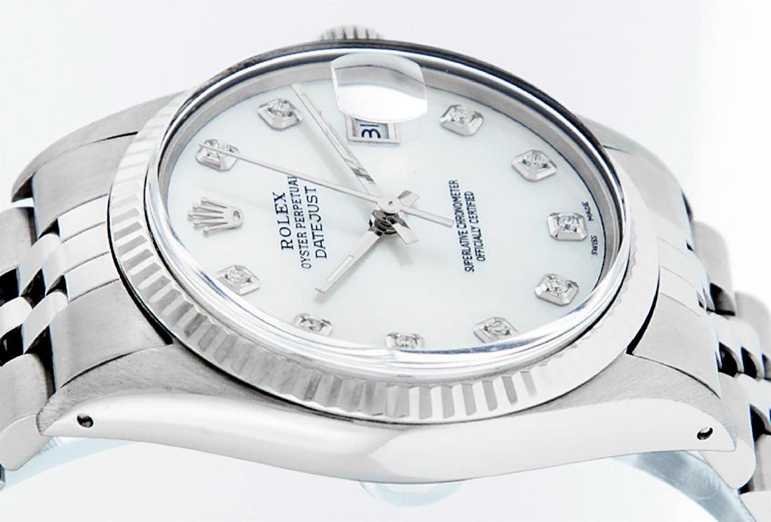 Rolex Men's Stainless Mother Of Pearl Diamond 36MM - 4