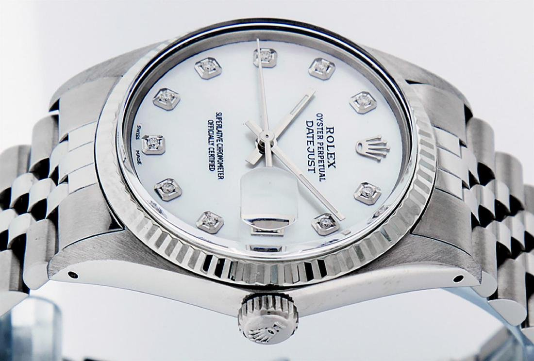 Rolex Men's Stainless Mother Of Pearl Diamond 36MM - 5