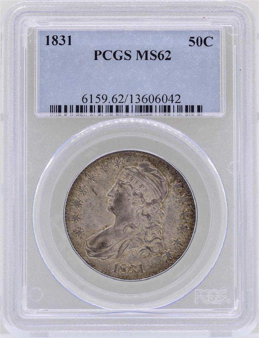 1831 Capped Bust Half Dollar Coin PCGS MS62