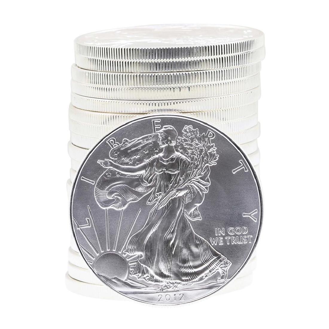 Roll of (20) 2012 $1 American Silver Eagle Brilliant