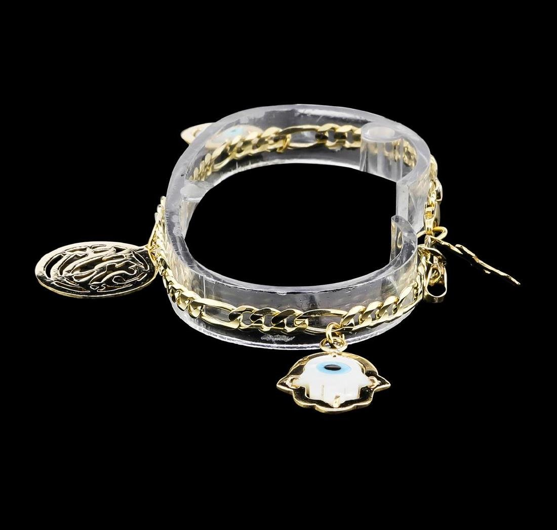14KT Yellow Gold Charm Bracelet - 2