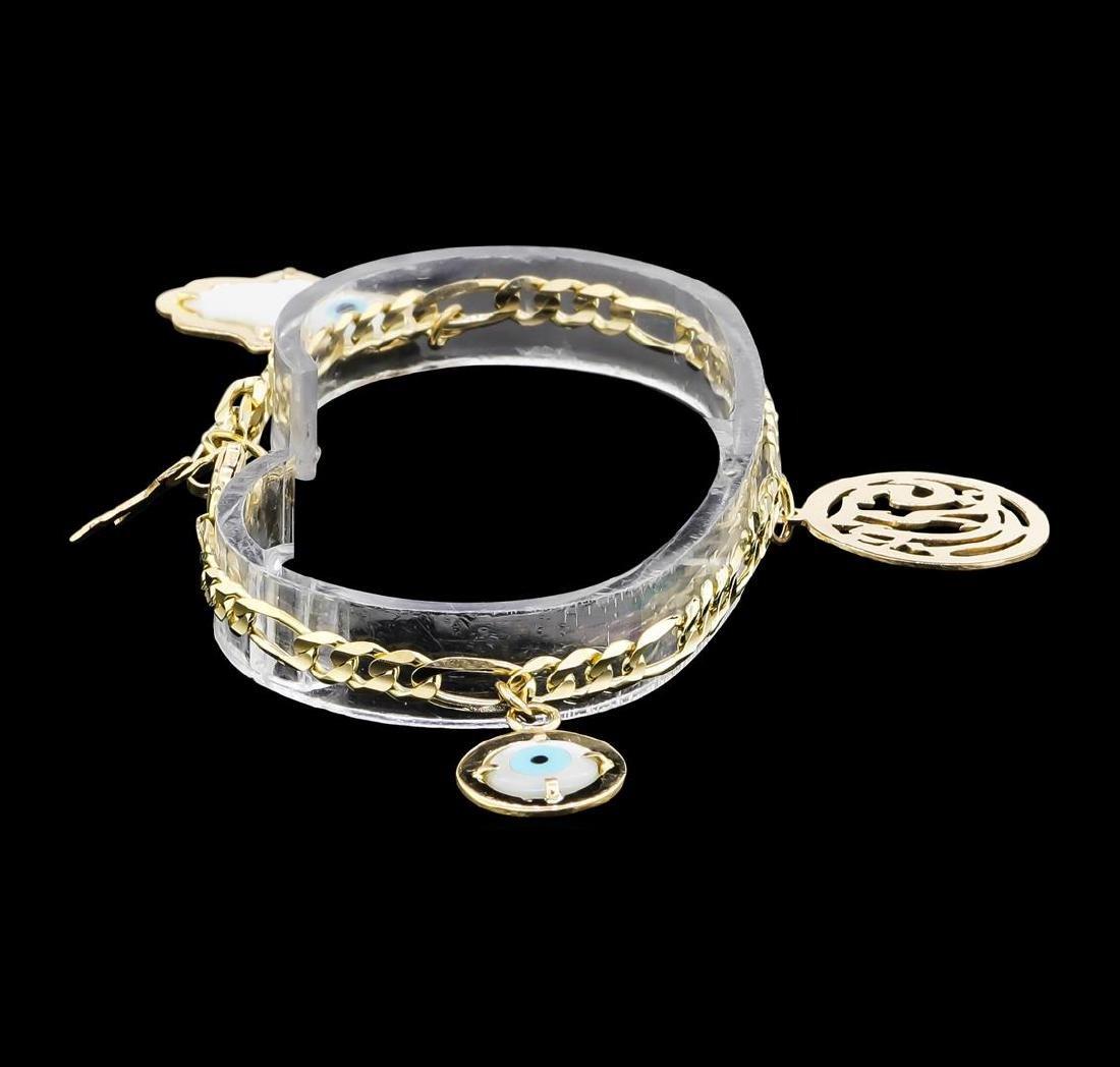 14KT Yellow Gold Charm Bracelet - 3