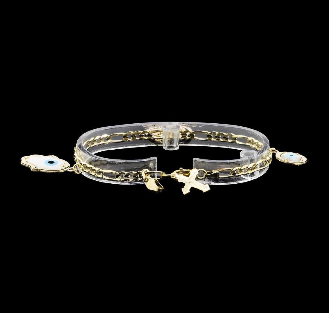 14KT Yellow Gold Charm Bracelet - 4
