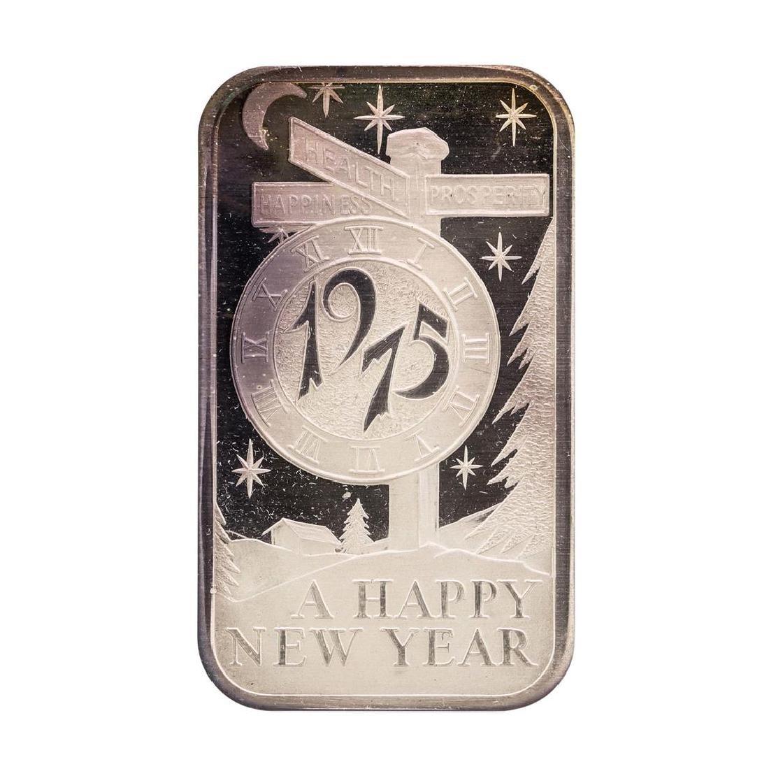 1975 Happy New Year Madison Mint 1 oz .999 Fine Silver