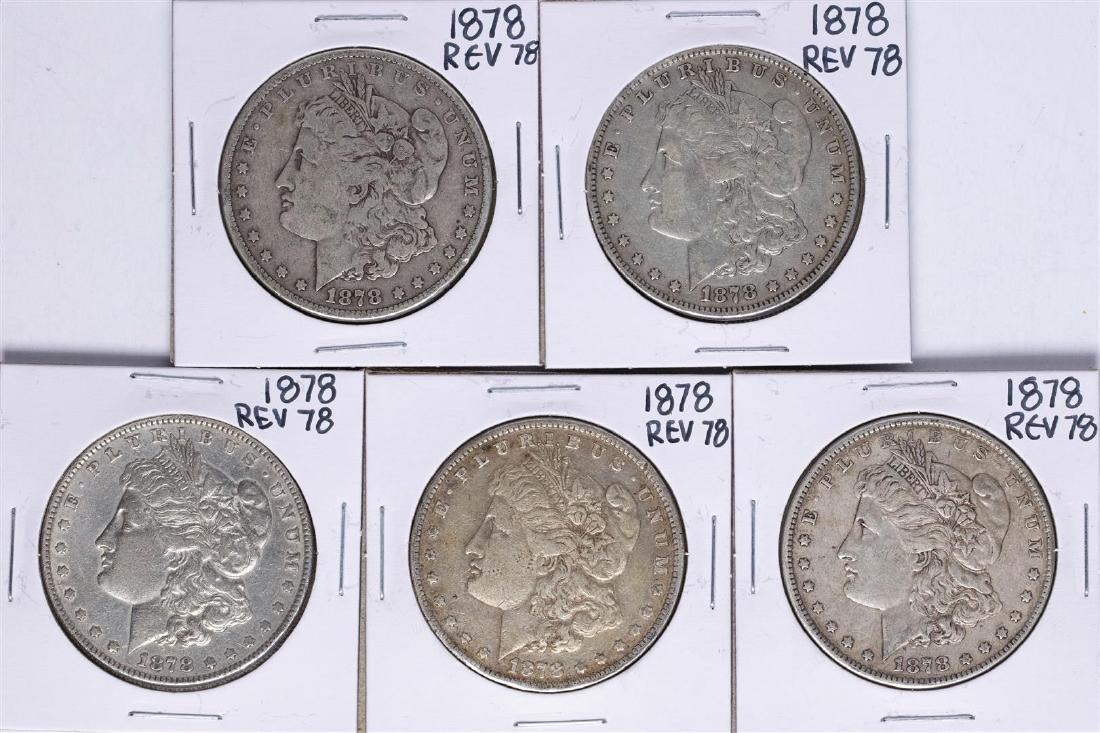 Lot of (5) 1878 Reverse of 78' $1 Morgan Silver Dollar