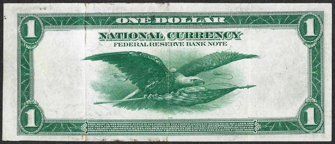 1918 $1 Federal Reserve Note Chicago - 2