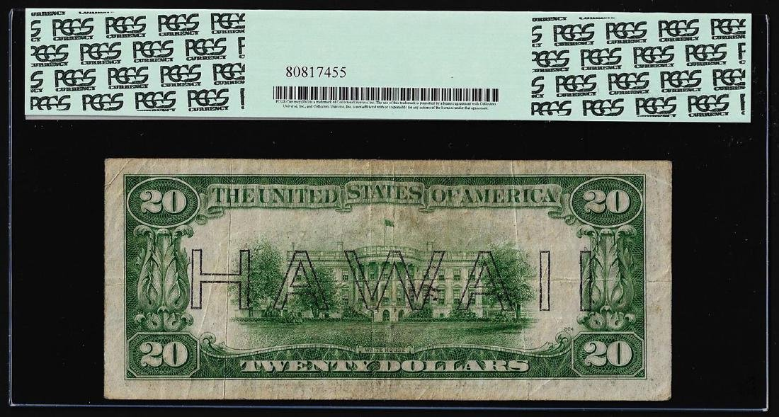 1934A $20 Hawaii Federal Reserve Note WWII Emergency - 2