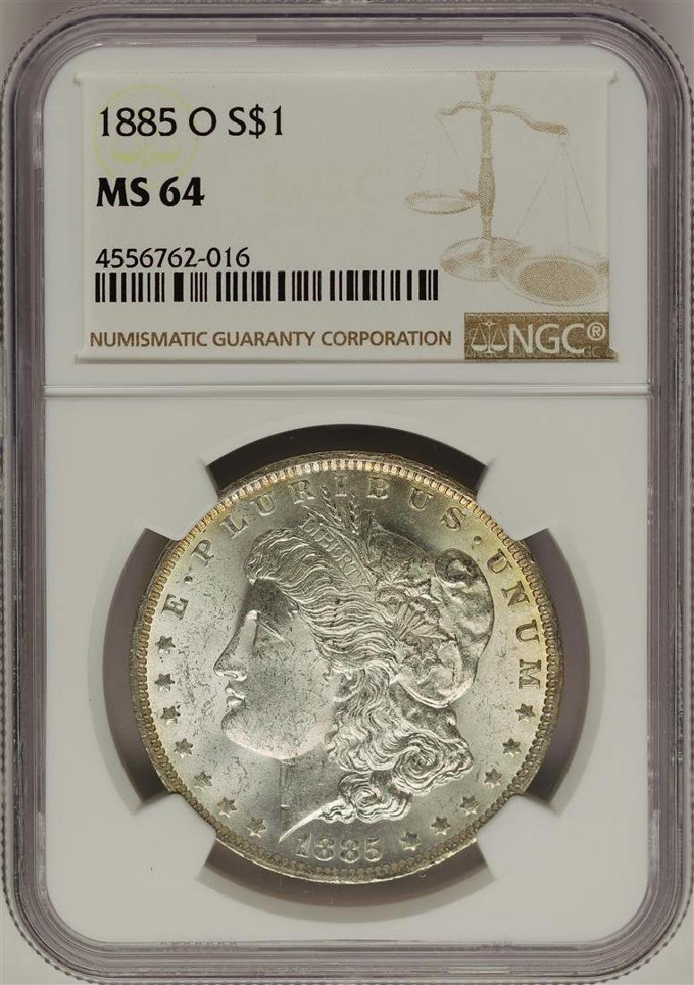 1885-O $1 Morgan Silver Dollar Coin NGC MS64 Nice